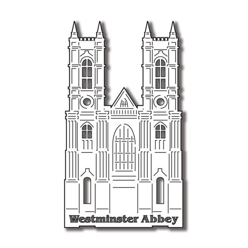 Scrapbook Customs - World Collection - England - Laser Cut - Westminster Abbey