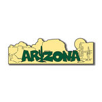 Scrapbook Customs - United States Collection - Arizona - Laser Cut - Word and Background