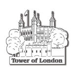 Scrapbook Customs - World Collection - England - Laser Cut - Tower of London