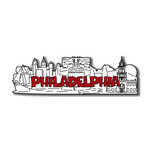Scrapbook Customs - United States Collection - Pennsylvania - Laser Cut - Philadelphia - Word and Background