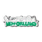 Scrapbook Customs - United States Collection - Louisiana - Laser Cut - New Orleans - Word and Background