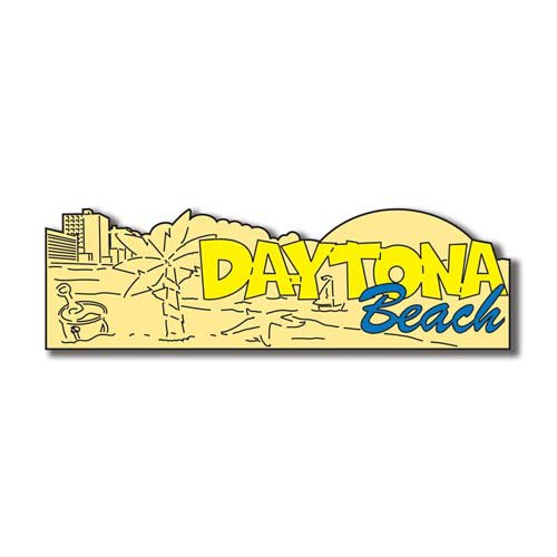 Scrapbook Customs - United States Collection - Florida - Laser Cut - Daytona Beach - Word and Background