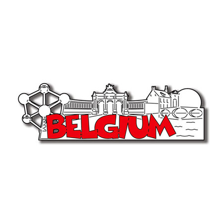 Scrapbook Customs - World Collection - Belgium - Laser Cut - Word and Background