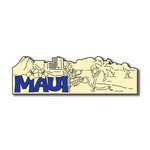Scrapbook Customs - United States Collection - Hawaii - Laser Cut - Maui - Word and Background