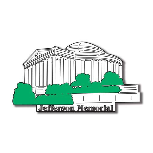 Scrapbook Customs - United States Collection - Washington DC - Laser Cut - Jefferson Memorial