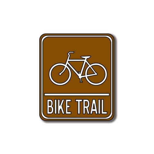 Scrapbook Customs - Sports Collection - Laser Cut - Bike Trail Sign