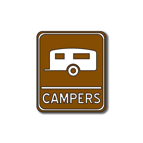 Scrapbook Customs - Sports Collection - Laser Cut - Campers Sign