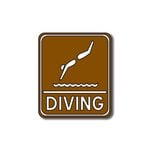 Scrapbook Customs - Sports Collection - Laser Cut - Diving Sign