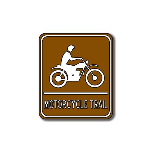 Scrapbook Customs - Sports Collection - Laser Cut - Motorcycle Trail Sign