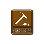 Scrapbook Customs - Sports Collection - Laser Cut - Rock Collecting Sign