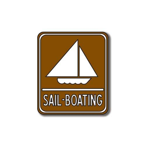 Scrapbook Customs - Sports Collection - Laser Cut - Sail-Boating Sign