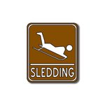 Scrapbook Customs - Sports Collection - Laser Cut - Sledding Sign
