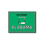 Scrapbook Customs - United States Collection - Alabama - Laser Cut - Now Entering Sign