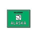 Scrapbook Customs - United States Collection - Alaska - Laser Cut - Now Entering Sign