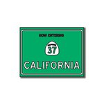 Scrapbook Customs - United States Collection - California - Laser Cut - Now Entering Sign