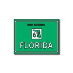 Scrapbook Customs - United States Collection - Florida - Laser Cut - Now Entering Sign