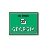 Scrapbook Customs - United States Collection - Georgia - Laser Cut - Now Entering Sign