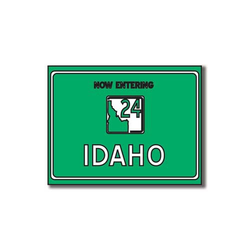 Scrapbook Customs - United States Collection - Idaho - Laser Cut - Now Entering Sign