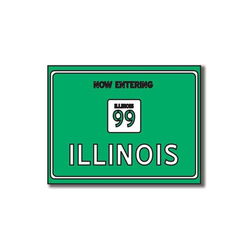 Scrapbook Customs - United States Collection - Illinois - Laser Cut - Now Entering Sign
