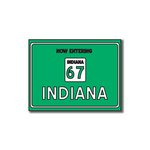 Scrapbook Customs - United States Collection - Indiana - Laser Cut - Now Entering Sign