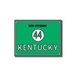 Scrapbook Customs - United States Collection - Kentucky - Laser Cut - Now Entering Sign