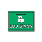 Scrapbook Customs - United States Collection - Louisiana - Laser Cut - Now Entering Sign