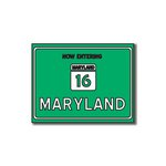 Scrapbook Customs - United States Collection - Maryland - Laser Cut - Now Entering Sign
