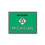 Scrapbook Customs - United States Collection - Michigan - Laser Cut - Now Entering Sign