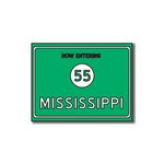 Scrapbook Customs - United States Collection - Mississippi - Laser Cut - Now Entering Sign