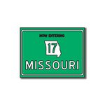 Scrapbook Customs - United States Collection - Missouri - Laser Cut - Now Entering Sign