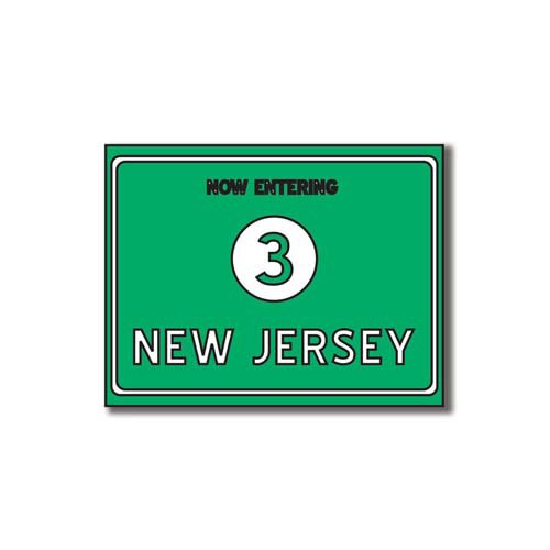 Scrapbook Customs - United States Collection - New Jersey - Laser Cut - Now Entering Sign