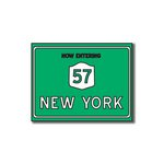 Scrapbook Customs - United States Collection - New York - Laser Cut - Now Entering Sign