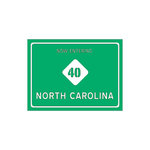 Scrapbook Customs - United States Collection - North Carolina - Laser Cut - Now Entering Sign