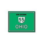 Scrapbook Customs - United States Collection - Ohio - Laser Cut - Now Entering Sign