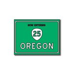Scrapbook Customs - United States Collection - Oregon - Laser Cut - Now Entering Sign