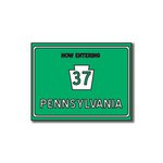 Scrapbook Customs - United States Collection - Pennsylvania - Laser Cut - Now Entering Sign