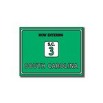 Scrapbook Customs - United States Collection - South Carolina - Laser Cut - Now Entering Sign