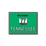 Scrapbook Customs - United States Collection - Tennessee - Laser Cut - Now Entering Sign