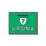 Scrapbook Customs - United States Collection - Virginia - Laser Cut - Now Entering Sign