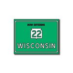 Scrapbook Customs - United States Collection - Wisconsin - Laser Cut - Now Entering Sign