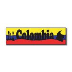 Scrapbook Customs - World Collection - Colombia - Laser Cut - Travel Topper