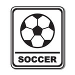 Scrapbook Customs - Sports Collection - Laser Cut - Soccer Sign