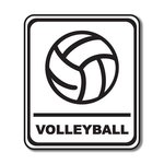Scrapbook Customs - Sports Collection - Laser Cut - Volleyball Sign