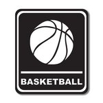 Scrapbook Customs - Sports Collection - Laser Cut - Basketball Sign