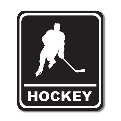 Scrapbook Customs - Sports Collection - Laser Cut - Hockey Sign