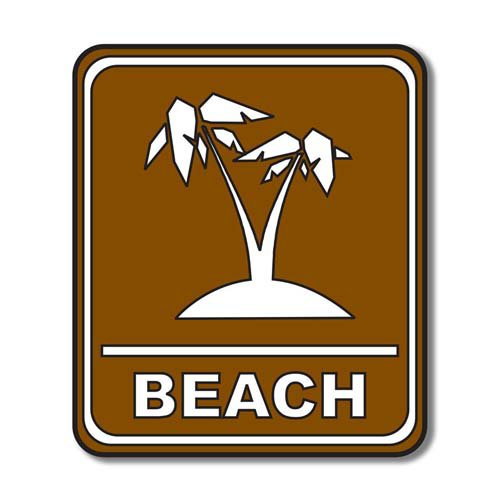 Scrapbook Customs - Sports Collection - Laser Cut - Beach Sign