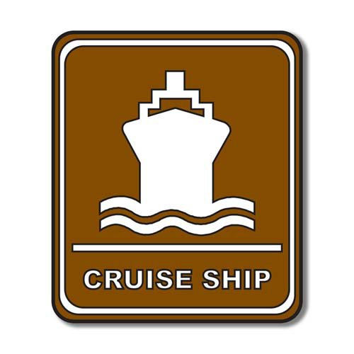 Scrapbook Customs - Sports Collection - Laser Cut - Cruise Ship Sign