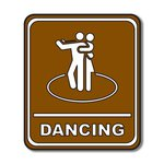 Scrapbook Customs - Sports Collection - Laser Cut - Dancing Sign