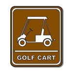 Scrapbook Customs - Sports Collection - Laser Cut - Golf Cart Sign