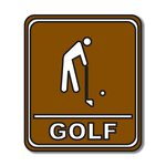 Scrapbook Customs - Sports Collection - Laser Cut - Golf Sign